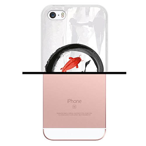 iPhone SE iPhone 5 5S Hülle, WoowCase® [Hybrid] Handyhülle PC + Silikon für [ iPhone SE iPhone 5 5S ] Husky-Hunde Sammlung Tier Designs Handytasche Handy Cover Case Schutzhülle - Transparent Housse Gel iPhone SE iPhone 5 5S Transparent D0530
