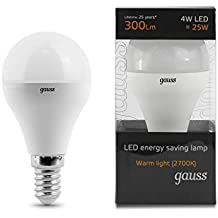 GAUSS A+ LED Lampe Plastik 4 W E14 weiß ЕВ105001104