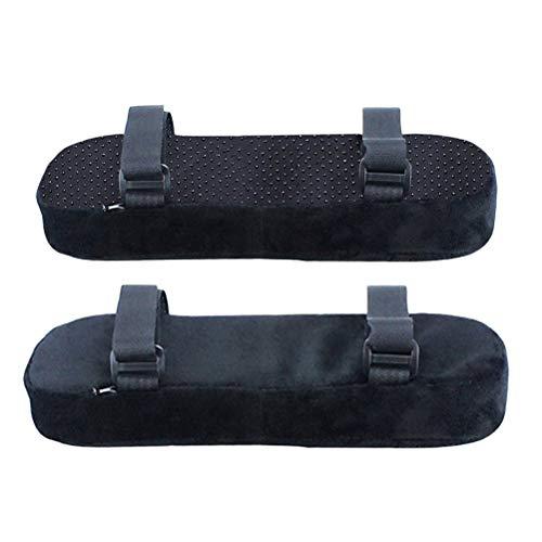 Schaum-stuhl-pad (Healifty Armlehnenschoner für Büro- und Gamingstuhl, 2 Stück, Memory-Schaum, Armlehnenpolster mit Gurt, Schwarz)
