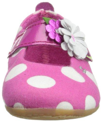 Living Kitzbühel Ballerina mit Tupfen Mädchen Flache Hausschuhe Pink (bubblegum 365)