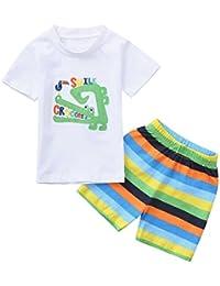 Amazon.es  Pijamas Verano - Blanco   Conjuntos   Niños de hasta 24 ... 2f33d71e50d0