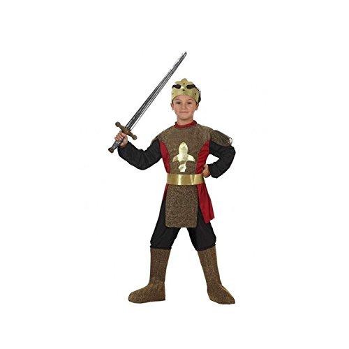 Atosa-69268 Kostüm mittelalterlicher König 10-12, für Jungen, 69268, goldfarben, von 10 bis 12 Jahren (Mittelalterlicher König Kostüm)