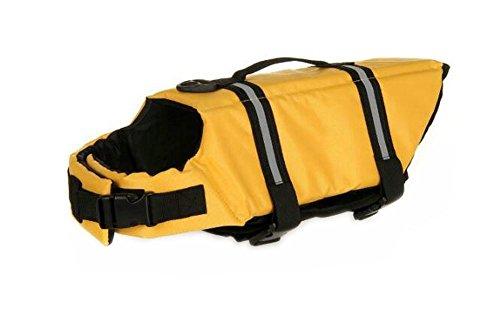 Cosanter Hundeschwimmweste Hund Rettungsweste Schwimmweste Schwimmtraining für Hunde Größen S, Orange