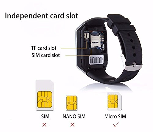 53117b75e7a37b Piqancy DZ09 Unisex Bluetooth Sweatproof Smartwatch with Camera TF/SIM Card  Slot for Android and