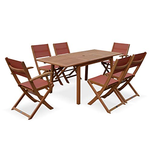 Eucalyptus chaises table