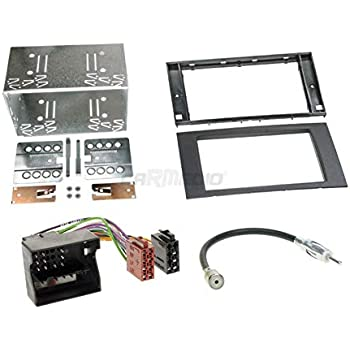 Radioanschlusskabel Ford Focus C-Max 03-07 1-DIN Autoradio Einbauset in original Plug/&Play Qualit/ät mit Antennenadapter Zubeh/ör und Radioblende//Einbaurahmen anthrazit