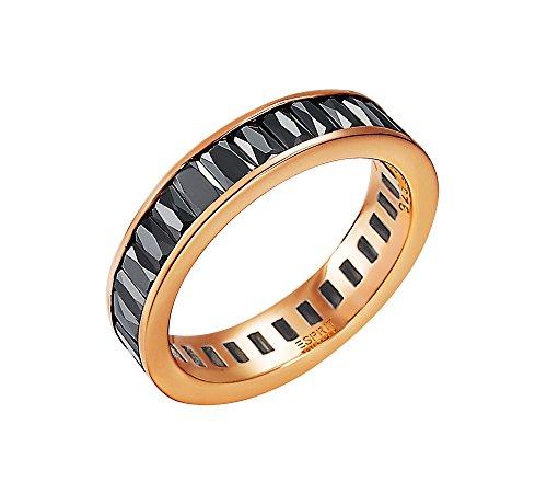 Esprit Collection Damen-Ring 925 Sterling Silber rhodiniert Glas Zirkonia Pallas Rose schw Preisvergleich