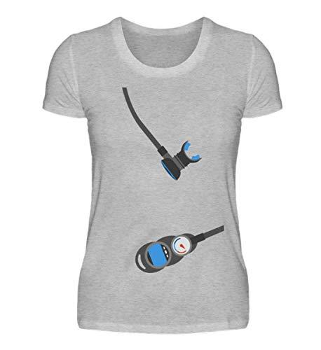Lustiges Taucher Shirt für Männer/Frauen mit Atemregler als Geschenk Idee/Scuba Diver - Damenshirt