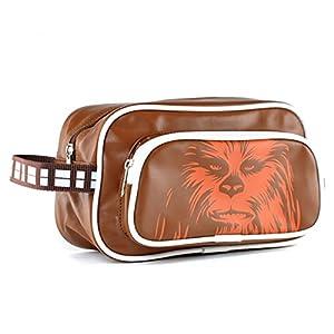 Star Wars Chewbacca Chewie Wookie lavado marrón oficial neceser de viaje