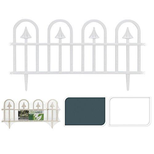 Neu 4er Set Plastik Kuppel Tor Geformt Rasen Begrenzung Rand Garten Einfassung Pflanze Picket Zaun Panel Set - Grün Zaun Panels Garten