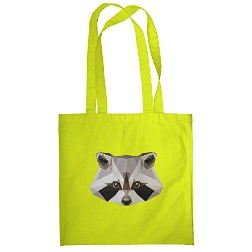 Texlab–Poly Racoon–sacchetto di stoffa Gelb