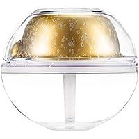 Cehar Humidificador USB Niebla ultrasónica 500 ML con luz Nocturna, proyector de Niebla silenciosa purificador de Aire humidificador para Sala de Estar, Dormitorio, baño o Cuarto de niños de Hotel