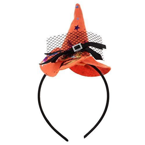 Verschiedene Kostüm Cosplay - Fenteer Halloween Hexenhut Haarreif Cosplay Haarreif Kostüm Haarschmuck, 7 verschiedene Stile - 5