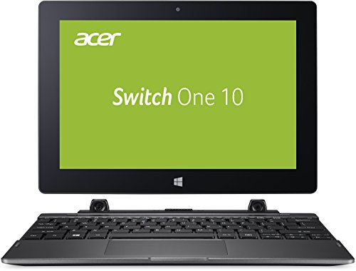 Acer Switch One 10 SW1-011-11CY 25,7 cm (10,1 Zoll HD Touch IPS) Convertible Notebook (Intel Atom x5-Z8350, 64GB, 4GB RAM, Bluetooth, MicroSD, Micro HDMI, WLAN, Windows 10 Home, Multi-Touch) anthrazit