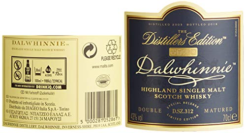 Dalwhinnie 15 Jahre Distillers Edition 2018 Single Malt Whisky (1 x 0.7 l)
