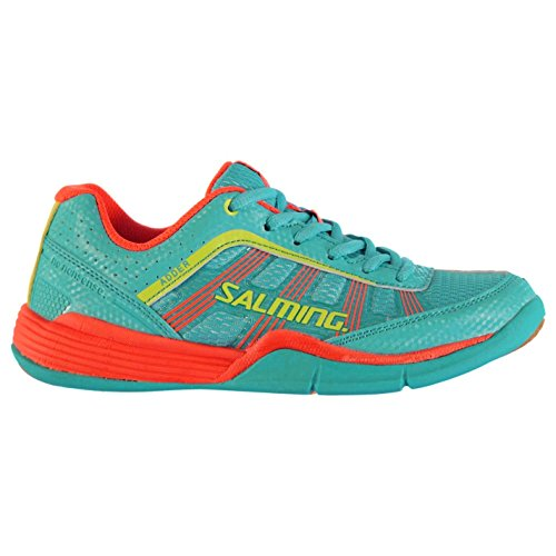 Salming Enfants Adder Squash Junior Chaussures Baskets A Lacets Sneakers Sport Turquoise/Org