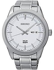 Seiko Herren-Armbanduhr Analog Quarz Edelstahl SNE359P1