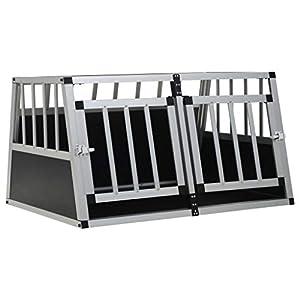 vidaXL Cage pour Chien à Double Porte 89x69x50 cm Niche Caisse de Transport