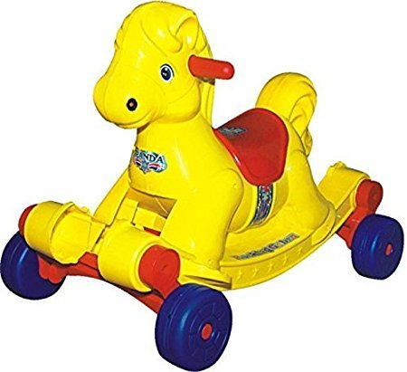 Goyal's Baby Musical Hobby Horse 2-in-1 Rocker cum Ride-on for Kids - Yellow