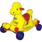 Goyal's Panda Hobby Horse 2-in-1 Rocker cum Ride-on for Kids - Yellow