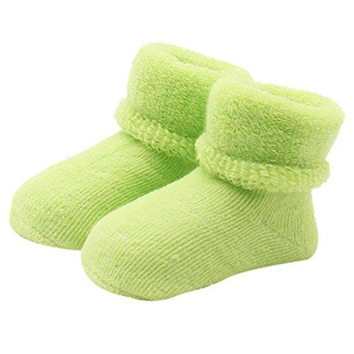 Fixuk - Chaussette - Bébé (garçon) 0 à 24 mois vert Green taille unique