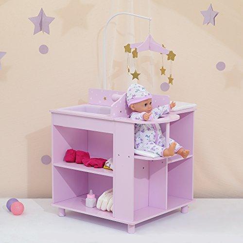 Olivia\'s Little World TD-0203AP Babypuppen-Zimmer, Lila/Gold