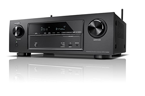 Denon AVRX1300WBKE2 7.1 Surround AV-Receiver (Dolby Atmos, dtsX, WLAN, Bluetooth, Spotify Connect, 5 Plus 1 HDMI 3D, 4K, HDCP 2.2, 7x 145 Watt) schwarz