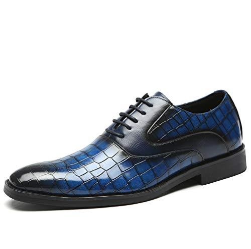TAZAN Zapatos Oxford Vestir Negocios Hombres Laca