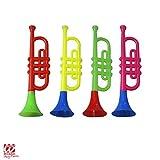Widmann - AC1831 - Trompette clown sonore Couleurs assorties 30 cm - Trompette clown sonore 4 couleurs assorties
