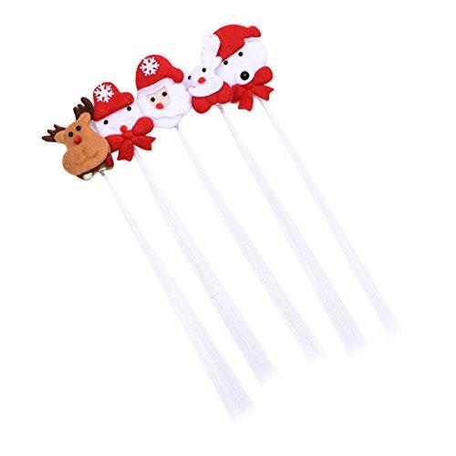 BESTOYARD 5 Stücke LED Haar Lichter Haarspange Zöpfe mit Haarclips für Weihnachten Festival Party Supplies Deko (Zufall) (Light Perücke Up)