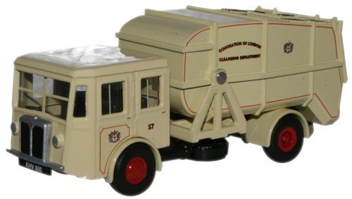 oxford-diecast-76sd005-corporation-of-london-shelvoke-drewry-dustcart