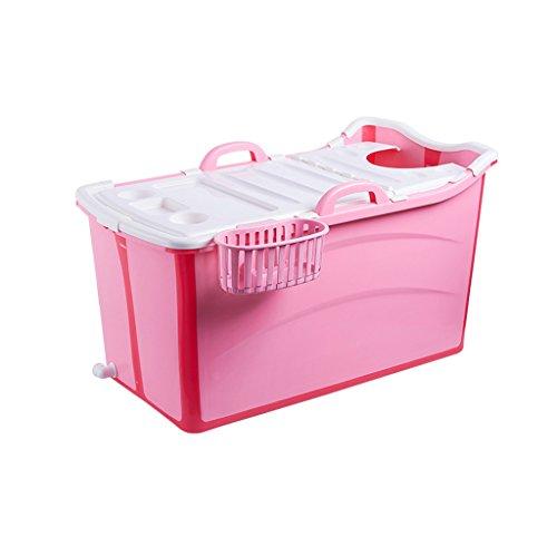 WENJUN Vasche Termali Pieghevoli Per Bambini Da 4 A 15 Anni Casa Privata Per Bambini Piscina Coperta Con Vasca Da Bagno ( Colore : Rosa , dimensioni : 82*42*43cm )