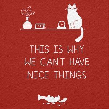 Texlab–No NICE THINGS–sacchetto di stoffa Rot
