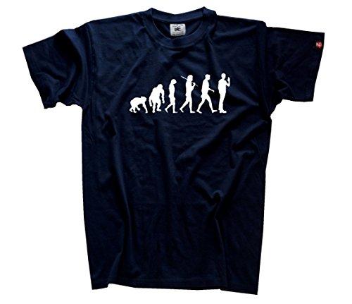 Shirtzshop Herren Standard Edition the Big Bang Evolution Theory T-Shirt, Navy, XXXL