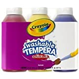 Crayola Artista Ii Tempera Paint; 8 Oz. Bottles; Primary Colors: Red, Yellow, Blue; no. BIN543181 Jouets, Jeux, Enfant, Peu