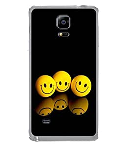 PrintVisa Shadowing Smiles High Gloss Designer Back Case Cover for Samsung Galaxy Note 4 :: Samsung Galaxy Note 4 N910G :: Samsung Galaxy Note 4 N910F N910K/N910L/N910S N910C N910Fd N910Fq N910H N910G N910U N910W8