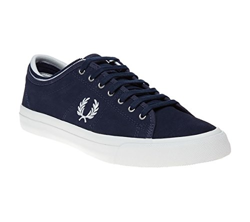 Fred Perry Kendrick Tipped Cuff Leather, Scarpe Stringate Oxford Uomo Carbon Blue