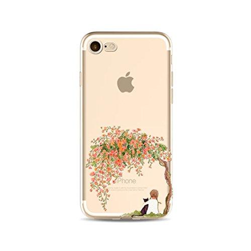 Cover iPhone 6/iPhone 6s, KSHOP silicone cover con Disegno di tema di natale, sottile morbide bumper custodia per iPhone 6/iPhone 6s - ophone renna di cartone animato girl