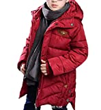 SMITHROAD Jungen Wintermantel Kapuze Fell Taschen Kinder Parka Winterjacke Steppjacke Lange Herbst Winter Jacket