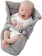 Babies Bloom Grey Organic Cotton Baby Sleeping Bag for Newborns (Blanket Bag Pouch) (0-6 Months Maximum)
