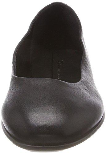 Ecco Damen Incise Geschlossene Ballerinas Schwarz (Black 1001)