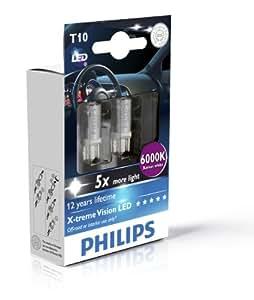 Philips X-tremeVision LED W5W T10 6000K 129666000KX2, 2er Karton