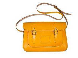 Bolso tradicional tipo cartera color amarillo (pequeño) - Hecho a mano en Inglaterra