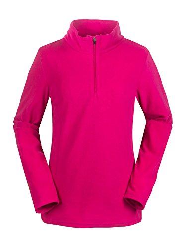 aparso Damen Microfleece Pullover mit Stehkragen Skirolli Dünn Atmungsaktiv (M, Pink)