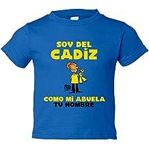 Camiseta niño soy del Cádiz como mi abuela personalizable ...