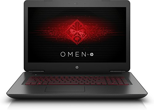HP Omen 17-w204ng 43,9 cm (17,3 Zoll / Full-HD IPS) Gaming Notebook (Intel Core i7-7700HQ, 8 GB RAM, 1 TB HDD, 256 GB SSD, NVIDIA GeForce GTX 1050, Windows 10 Home 64) schwarz mit Carbon-Optik (Laptop I5, 7200 U / Min)