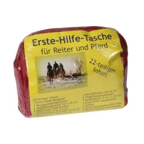 Erste-Hilfe-Tasche für Reiter, rot