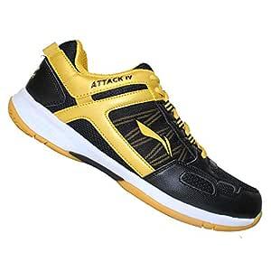 Li-Ning Pro Players Non-Marking Badminton Court Shoes, Black/Gold