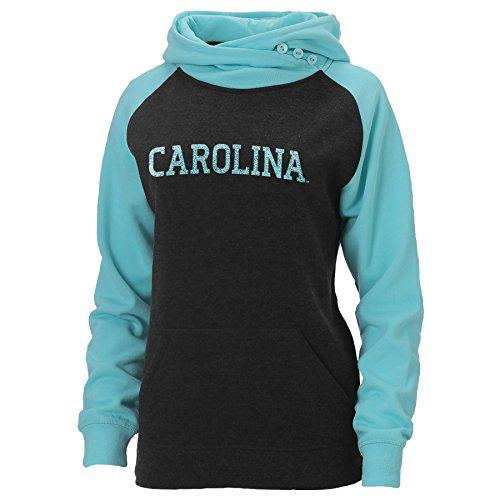 South Carolina Womens Zip (Ouray Sportswear NCAA South Carolina Fighting Gamecocks Damen Posh asym-Episoden Hoodie, Damen, Charcoal Heather/Surf Heather)