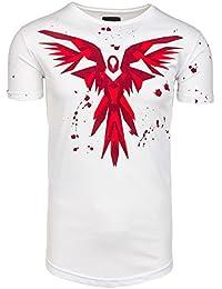 BOLF – T-shirt – Manches courtes – Print – Slim fit – Classique – BREEZY 300 – Motif – Homme [3C3]